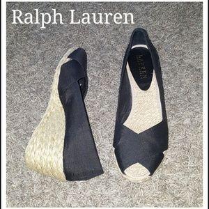 Ralph Lauren Peep Toe Wedges
